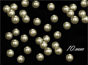 Ivory pearls 10mm - pack of 100
