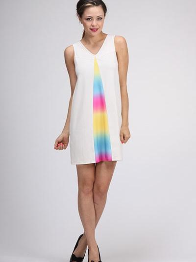 ivory prism dress