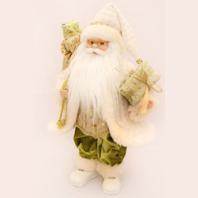Ivory Standing Santa with Gifts 16inches