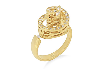 Ivy: Yellow Gold and Diamond Ring