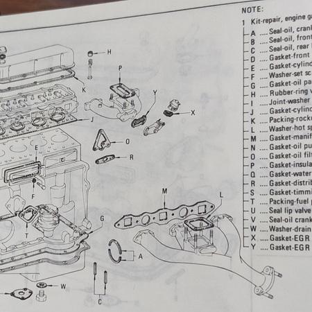 J Series Gasket Diagram - J13 J15 J16
