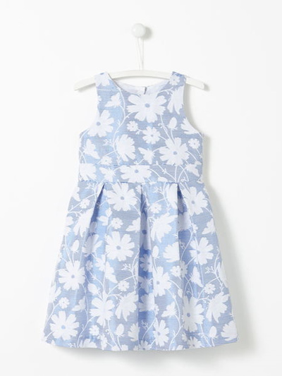 Jacadi blue and white dress