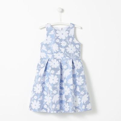 Jacadi blue and white dress