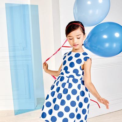 Jacadi Blue spot dress