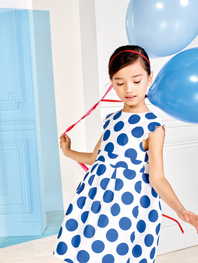 Jacadi Blue spot dress