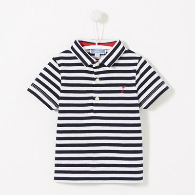 Jacadi Navy and white stripped Polo