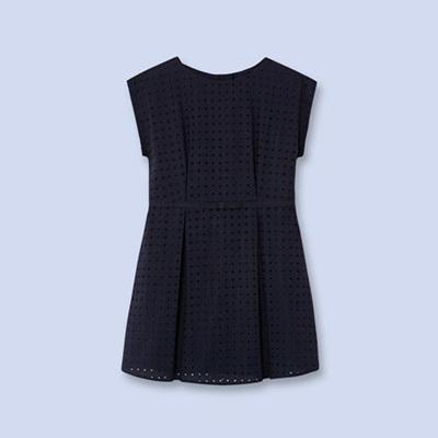 Jacadi Navy pleat dress
