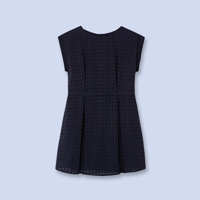 Jacadi Navy pleat dress