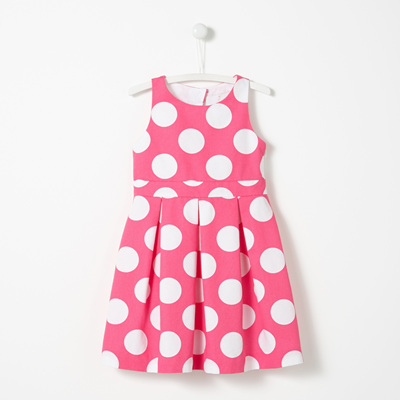 Jacadi Pink Polka Dot dress