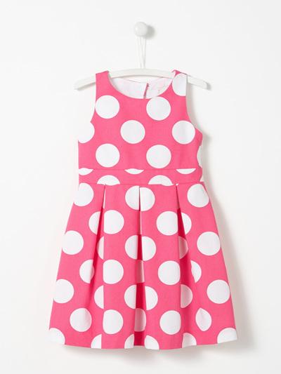 Jacadi Pink Polka Dot dress