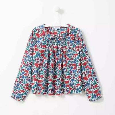 Jacardi floral long sleeved shirt
