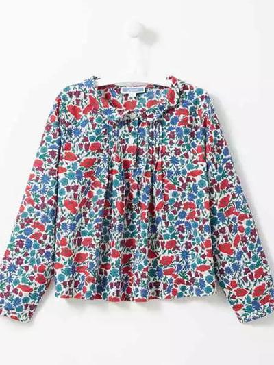 Jacardi floral long sleeved shirt