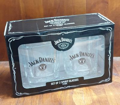 Jack Daniels  S/2 GLASSES W BASE PRINT
