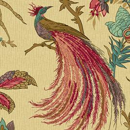 Jacobean Birds Rose A-9124-R
