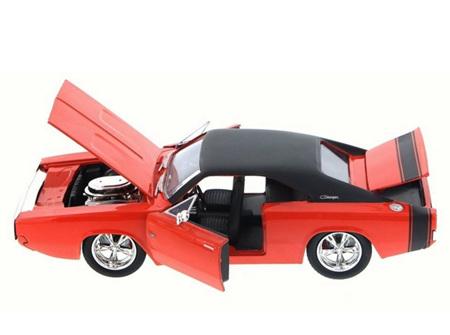 Jada Toys Bigtime Muscle  Diecast 1/24 1970 Dodge Charger RT, Orange
