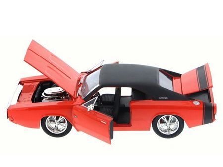 Jada Toys Bigtime Muscle  Diecast 1/24 1970 Dodge Charger RT, Orange