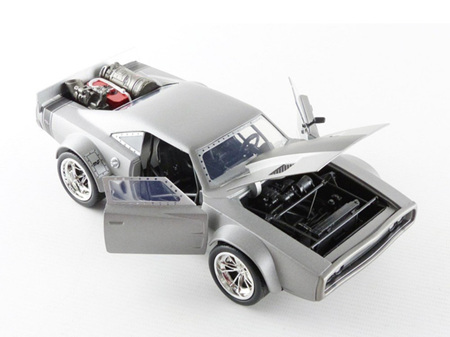 Jada Toys Fast & Furious 8 1/24 Dom's Ice Charger, Gun Metal