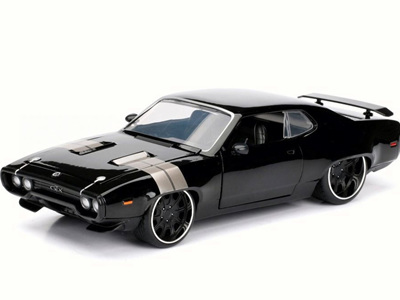Jada Toys Fast & Furious 8 1/24 Dom's Plymouth GTX, Black