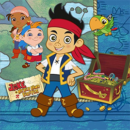 Jake & the Neverland Pirates -  Beverage Napkins