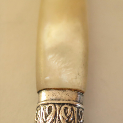 Mother of pearl handle