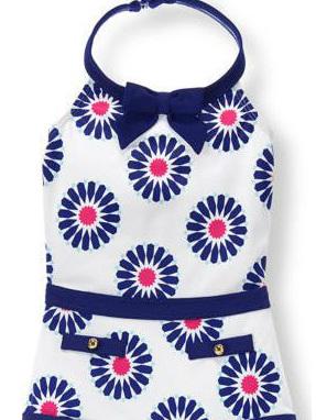 Janie and Jack blue floral swim wear
