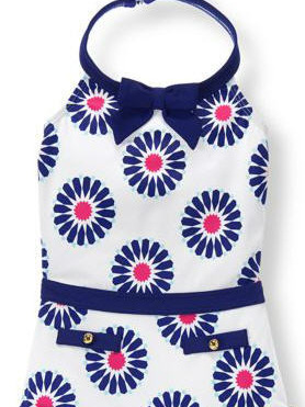 Janie and Jack blue floral swim wear