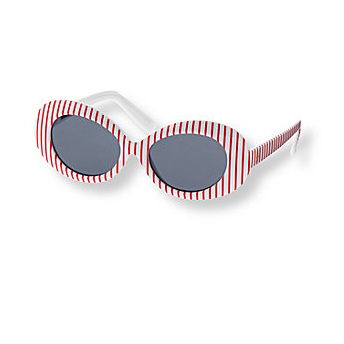 Janie and Jack Red and White Sunglasses
