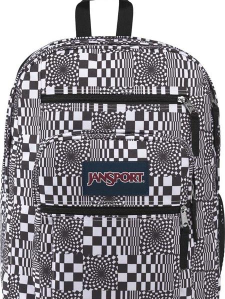JanSport Big Student Distorted Checkerboard 34L