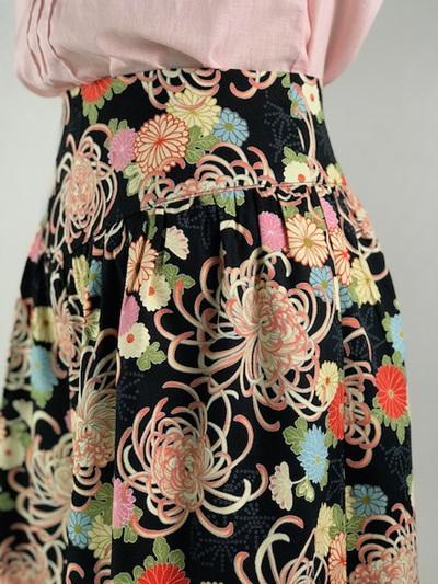 Japanese floral yoke skirt