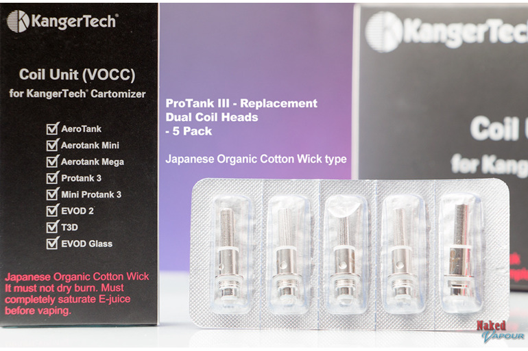 Japanese Organic Cotton Wick type - Protank III Heads