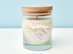 Jasmine scented soy candle - large glass tumbler with wooden lid