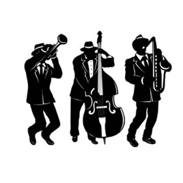 Jazz Trio Silouhettes Cutout - pack of 3
