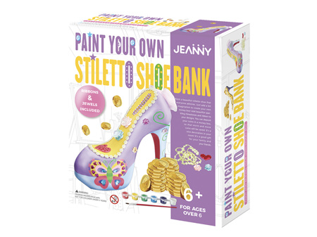 Jeanny Paint Your Own Stiletto Shoe Bank