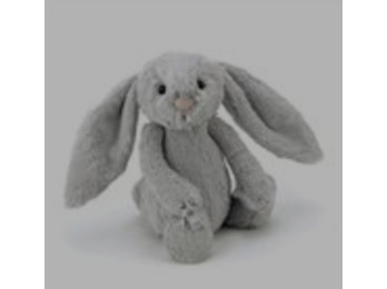 Jellycat Bashful Bunny Silver Small 18cm