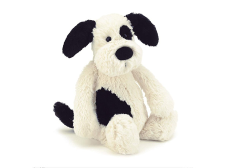 Jellycat Black/Cream Pup Small 18.5cm