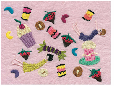 Jennifer Pudney Embroidery - A Moment on the Lips - Who Cares About It