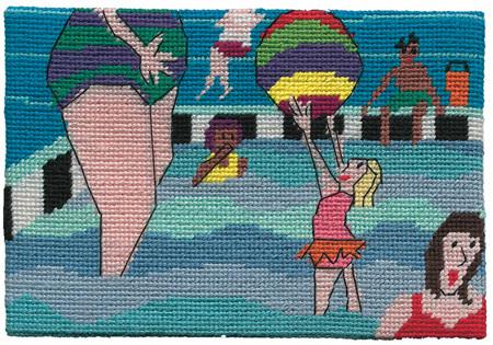Jennifer Pudney Postcard - At the Pool