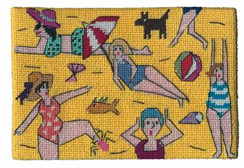 Jennifer Pudney Postcard - Beach Parade