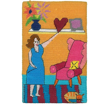 Jennifer Pudney Postcard - Home is Where the Heart Is