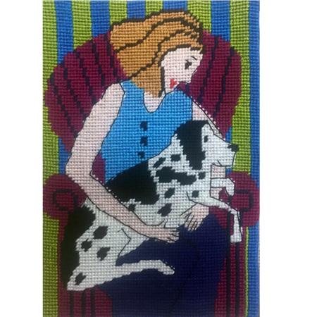 Jennifer Pudney Postcard - Madonna and Dog