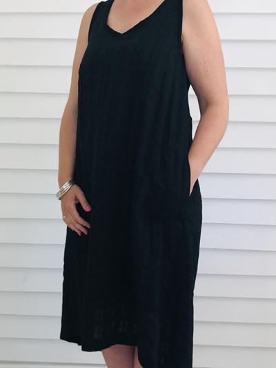 Jessica Singlet Dress BLACK CHECK