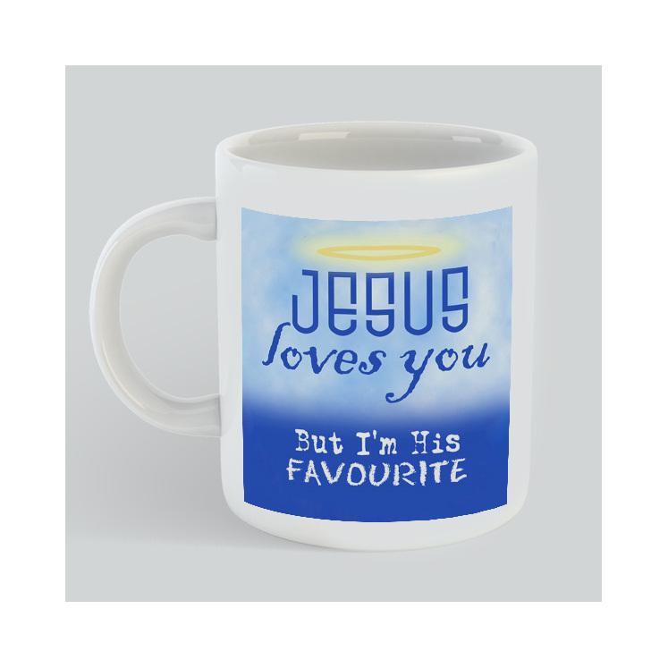 Jesus loves you i'm favourite Mug