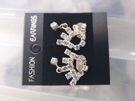 Jeweled Hand Earrings