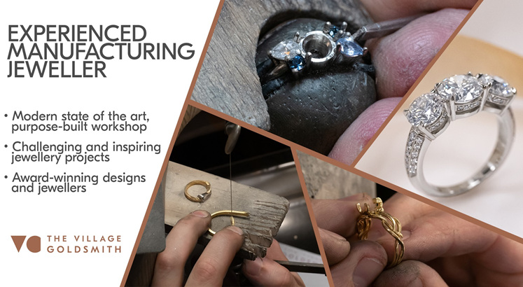 Jewellers crafting diamond and gemstone jewellery