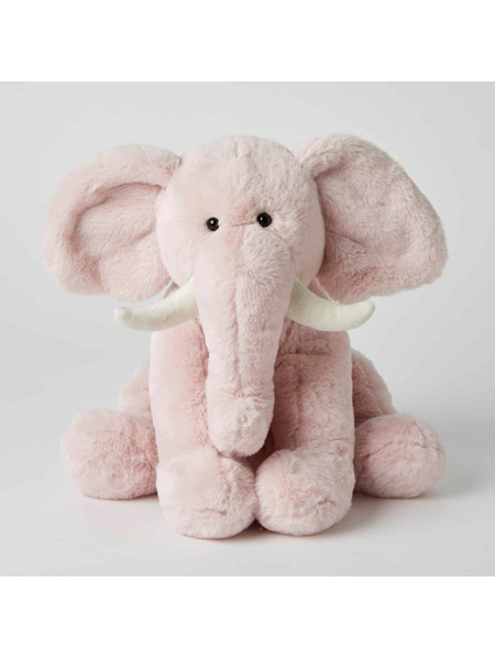 Jiggle & Giggle Plush Elephant - Pink