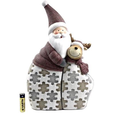 Jigsaw santa and reindeer