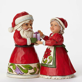 Jim Shore Heartwood Creek - Mini Santa and Mrs Claus