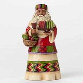 """Jim Shore Heartwood Creek """"Offerings of Love""""  African Santa"""