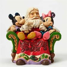 Jim Shore - Santa with Minnie and Mickey Ornament