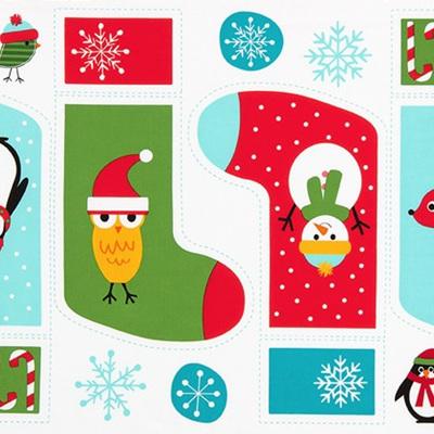 Jingle - Christmas Stocking Panel